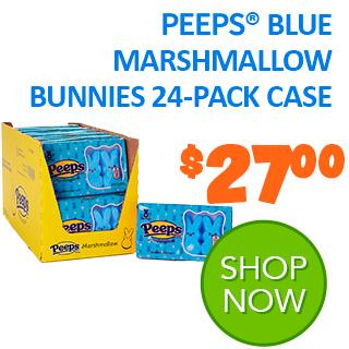 PEEPS Blue Marshmallow Bunnies 24-pack case