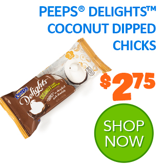 PEEPS Delights coconut dipped chicks