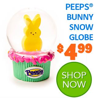 PEEPS Bunny Snow Globe