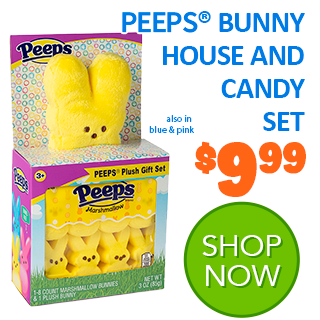 PEEPS Bunny House and Candy Set