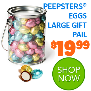 PEEPSTERS EGGS LARGE GIFT PAIL