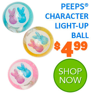 NEW for 2020 - PEEPS CHARACTER LIGHT-UP BALL