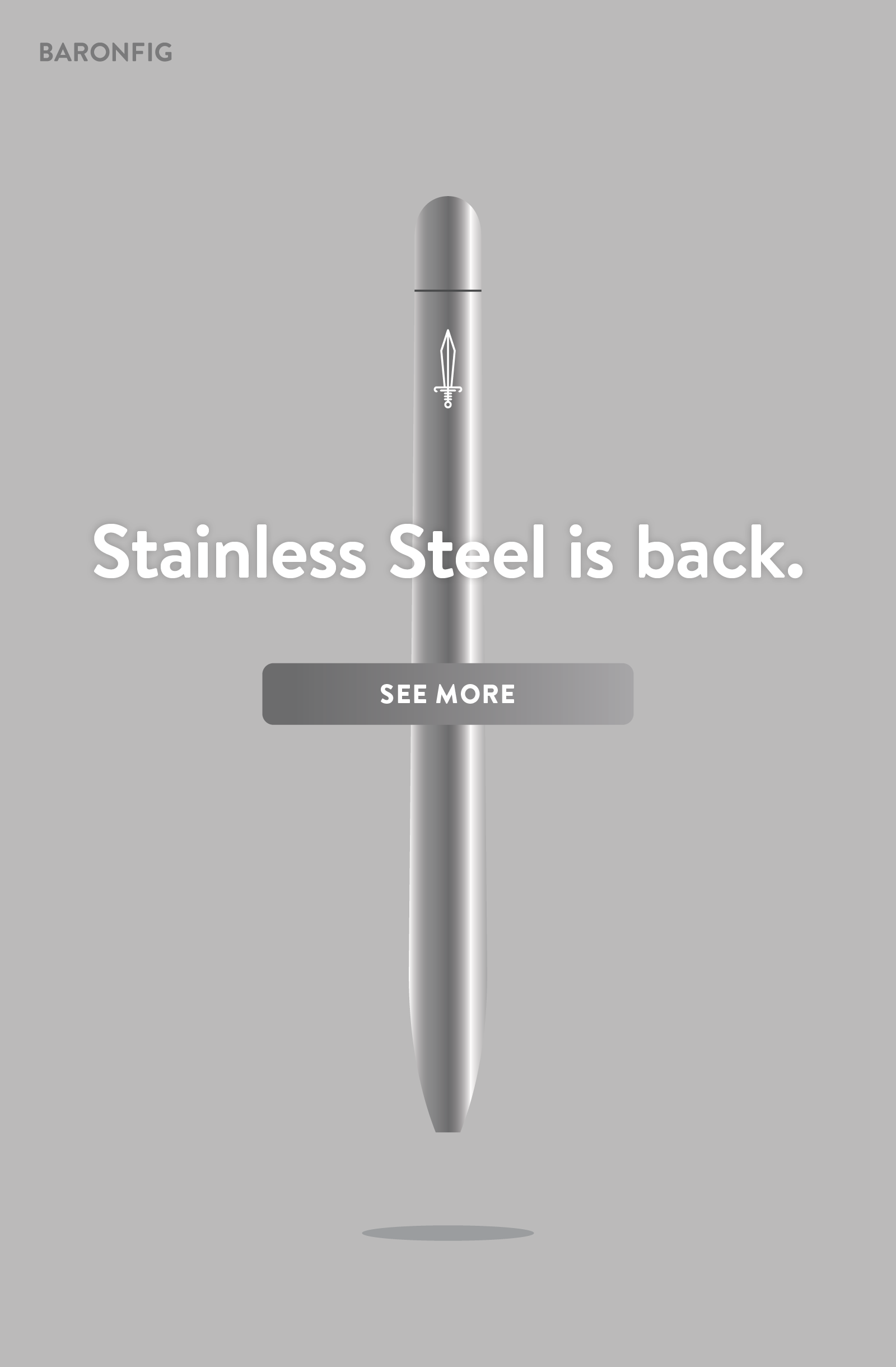 Stainless Steel is back. See more ?