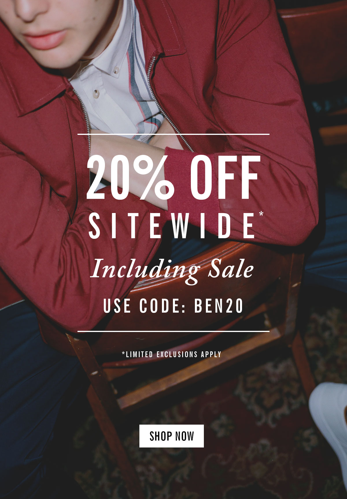 20% Off Sitewide | Including Sale | Use Code: BEN20 | Limited Exclusions Apply | Shop Now