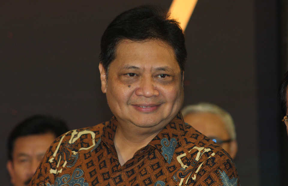 Coordinating Minister for Economic Affairs Airlangga Hartarto. (ID Photo/Emral Firdiansyah)