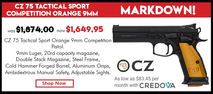 CZ 75 TS Orange, 9mm - 20rd Mags - 91261