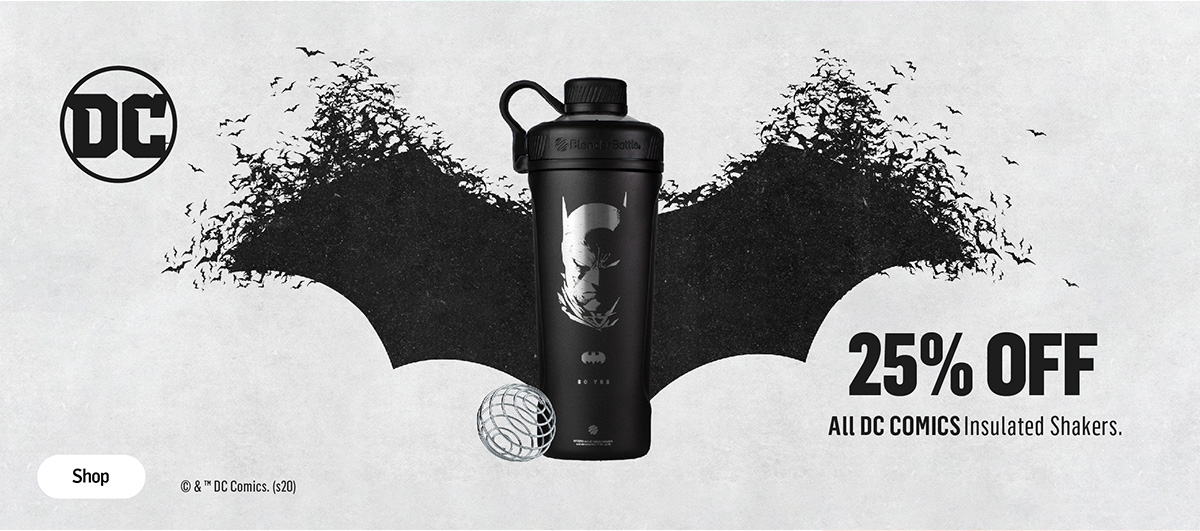 Batman Insulated Stainless Steel Shakers 25% Off