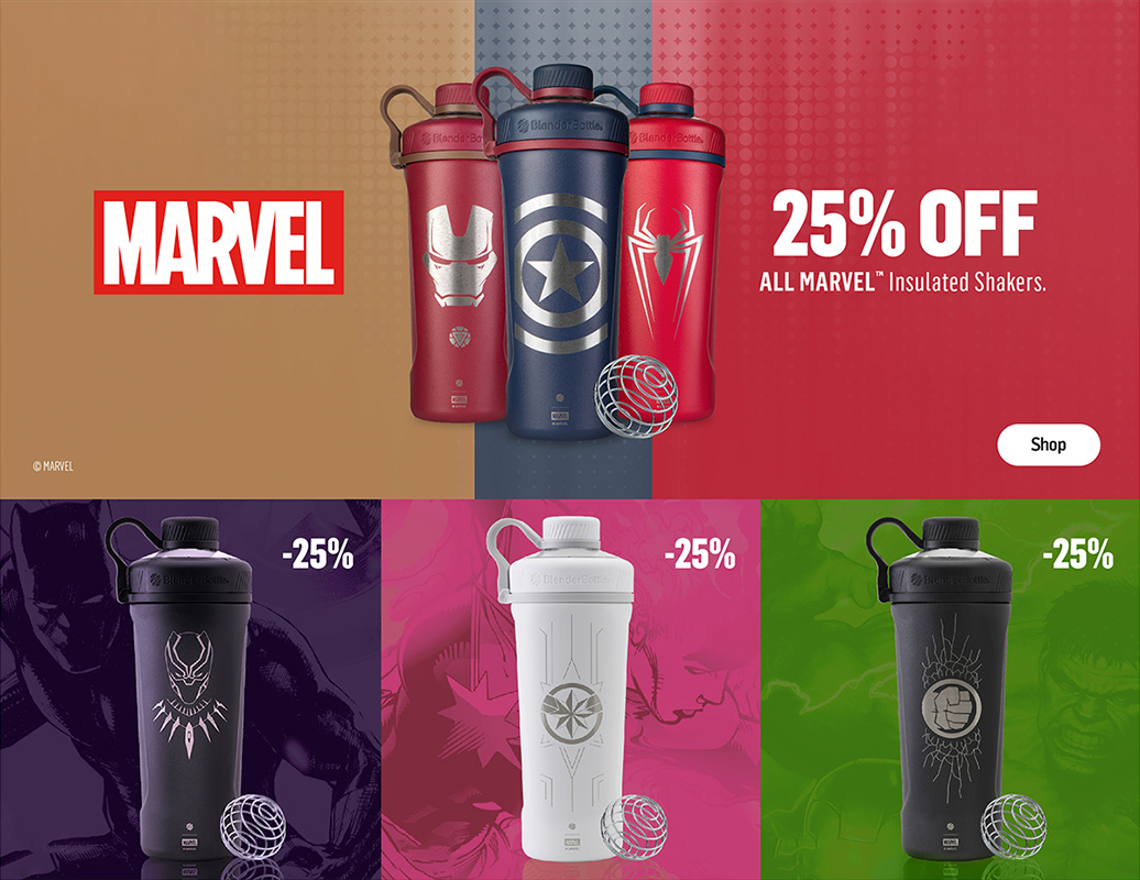 Marvel Shakers 25% Off