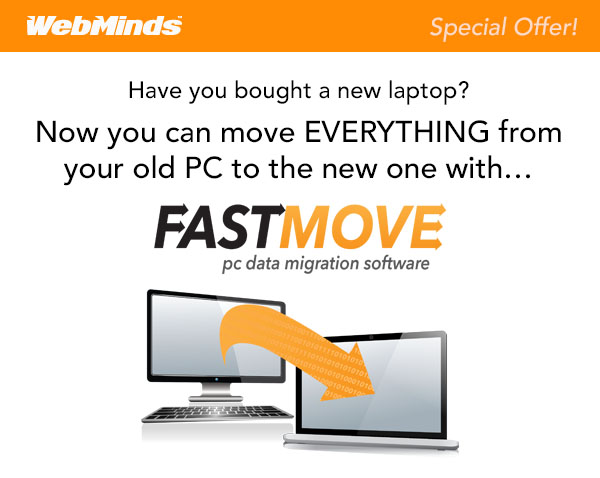 Have you bought a new Laptop? Now You Can Move All Your Old Data To Your New PC In Seconds With FastMove