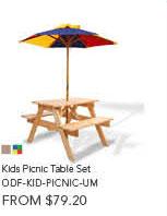 Kids Picnic Table Set