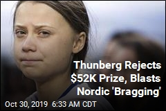 Thunberg Rejects $52K Prize, Blasts Nordic 'Bragging'