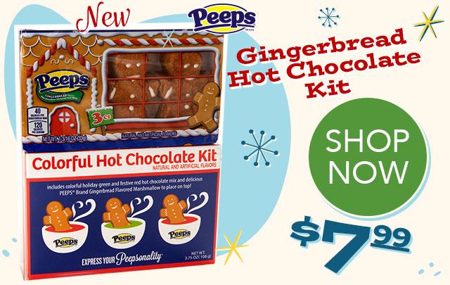 PEEPS Gingerbread Men Hot Chocolate Kit - $7.99 - SHOP NOW