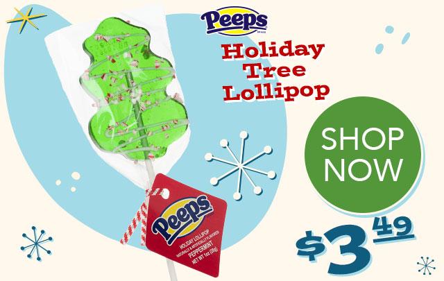PEEPS Holiday Christmas Tree Lollipop - $3.49 - SHOP NOW