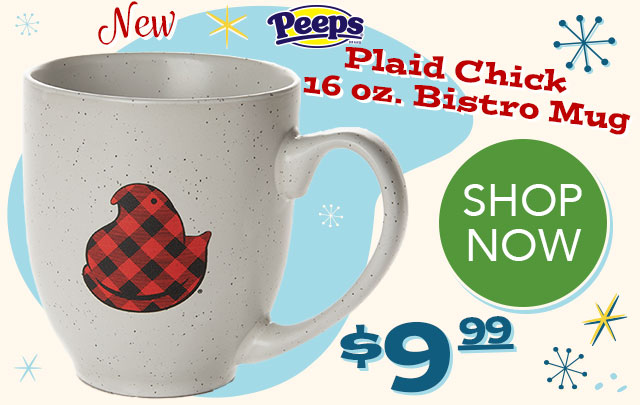 PEEPS Plaid Chick 16 oz. Bistro Mug - $9.99 - SHOP NOW