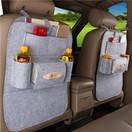 Car Seat Back Hanging Multi-function Car Storage Bag - Light Gray