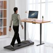 ACGAM Electric Standing Desk Frame Workstation Ergonomic Height Adjustable Desk Base Grey (Frame Only)