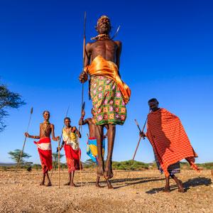 Maasai Masra tribe dancing