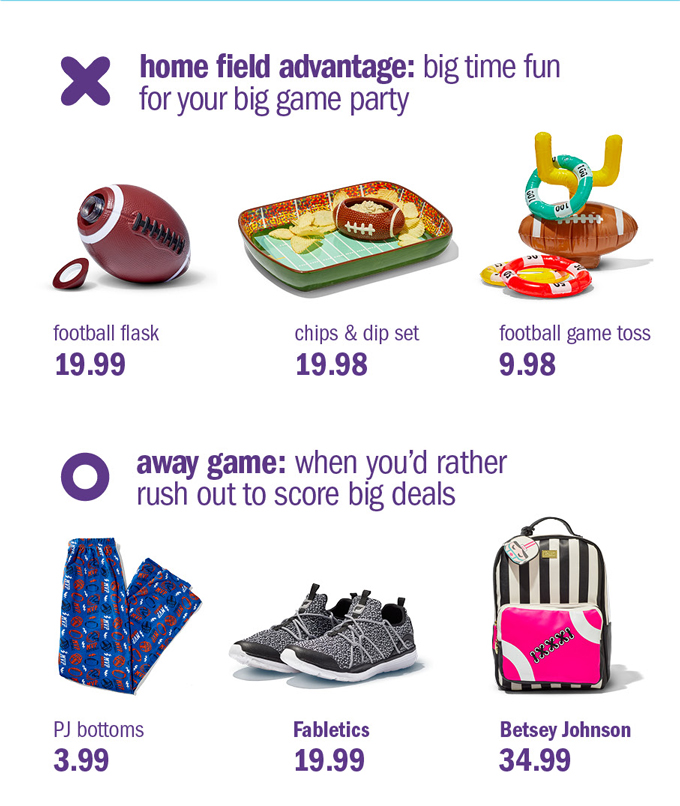 Home field advantage: big time fun for your big game party