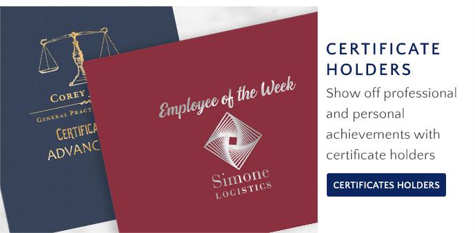 Shop Certificate Holders