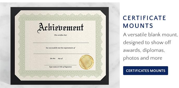 Shop Certificate Mounts