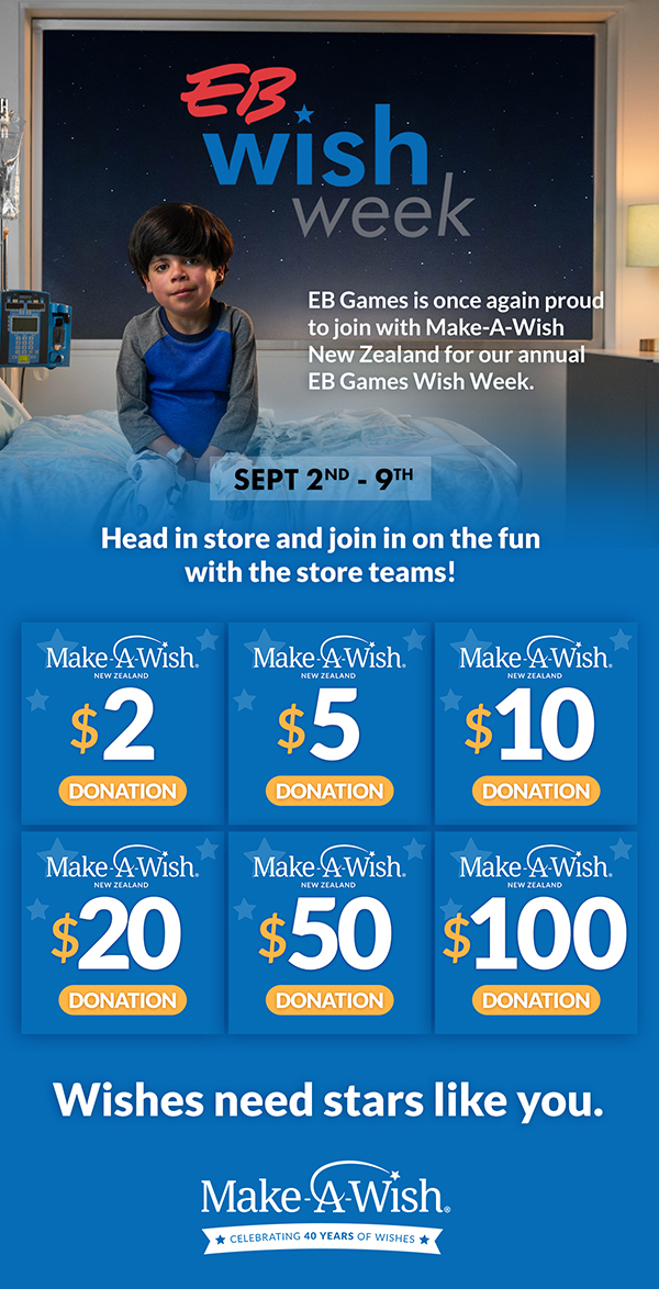 Make a Wish week at EB Games