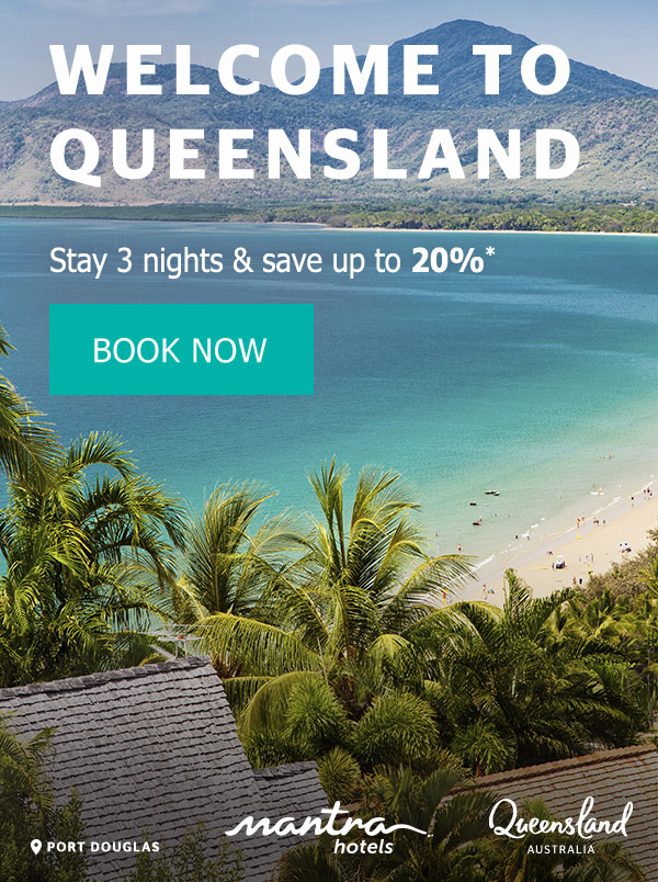 Welcome to Queensland - Stay 3 nights & save up to 20%*