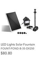 30W LED Lights Solar Fountain