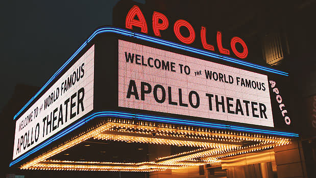 Marquee from the Apollo Theater in Harlem, NYC