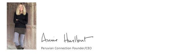Annie Hurlbut, Peruvian Connection Founder/CEO