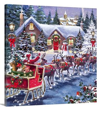 Santa And Sleigh by The Macneil Studio