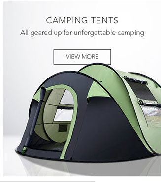 All geared up for unforgettable camping