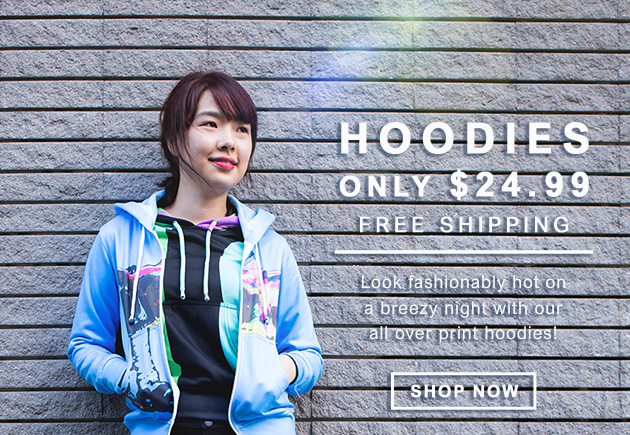 First hoodie for $24.99 with free shipping