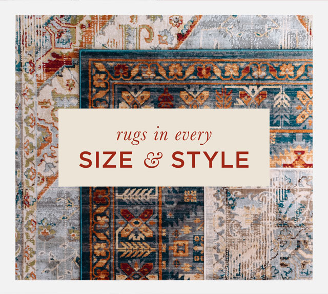Rugs in every size and style.