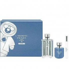 Prada L''Homme L''Eau Eau De Toilette 100ml, Travel Spray 10ml & Shower Cream 100ml Gift Set