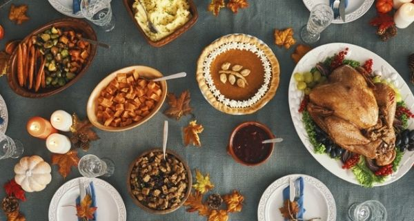 A Thanksgiving spread