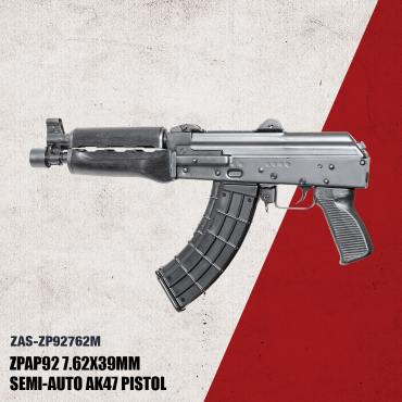 Zastava ZPAP92 7.62x39mm Semi-Automatic 30 Round Pistol with Wood Forearm Synthetic Grip