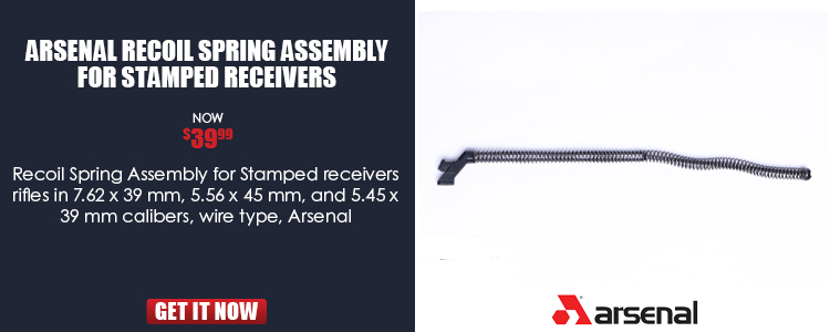 Arsenal Recoil Spring Assembly for Stamped Receivers