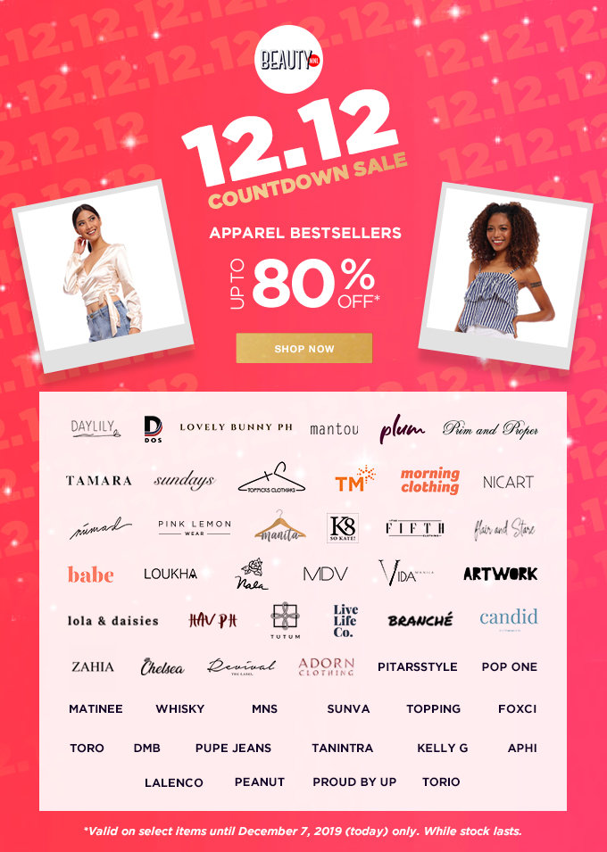 12.12 COUNTDOWN SALE | APPAREL BESTSELLERS | Up to 80% OFF | SHOP NOW >>