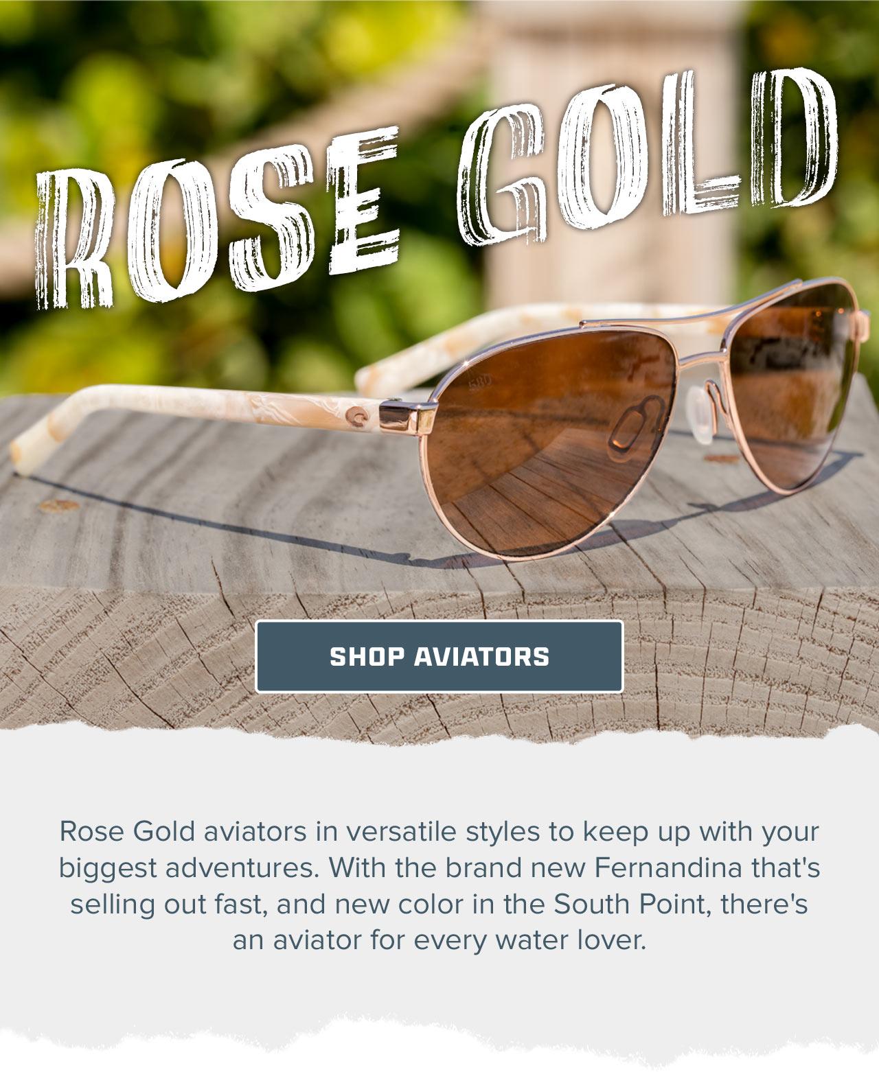 Rose Gold Aviators