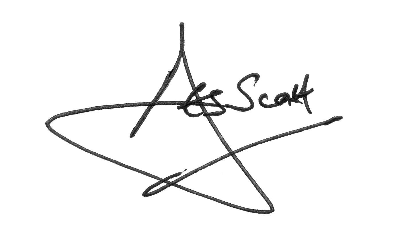 Des Scott signature