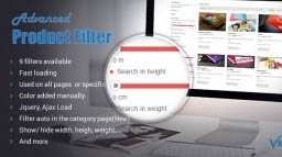 Advance Product Filter For Virtuemart