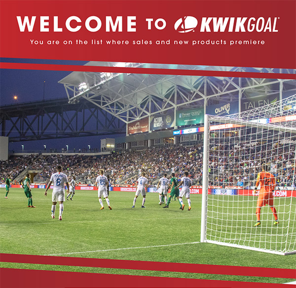 Welcome to Kwikgoal - You are on the list where sales and new products premiere