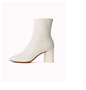 The Fei Boot in Antique White.