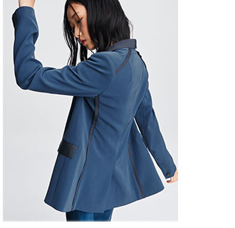 The Rylie Blazer in Royal Blue.