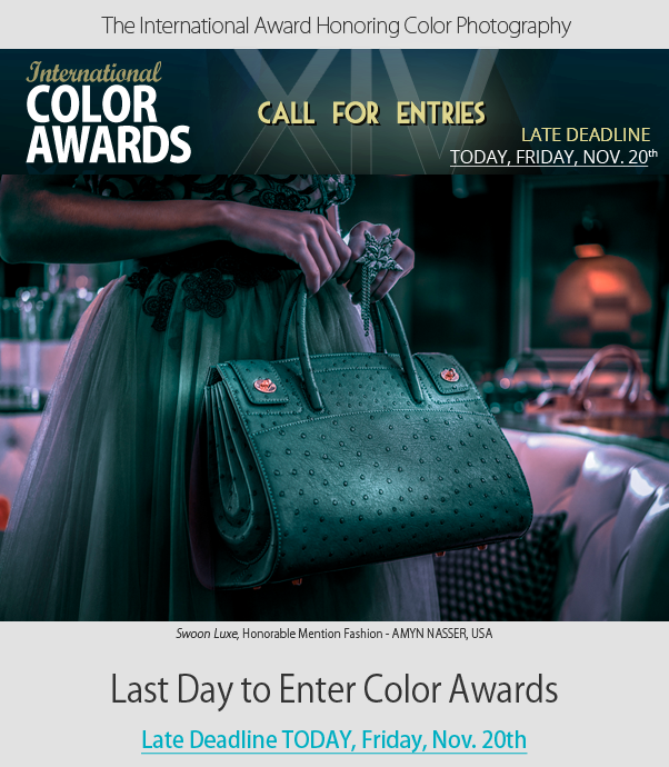 Last Day to Enter Color Awards - Late Entry Deadline Today, Friday, Nov. 20th