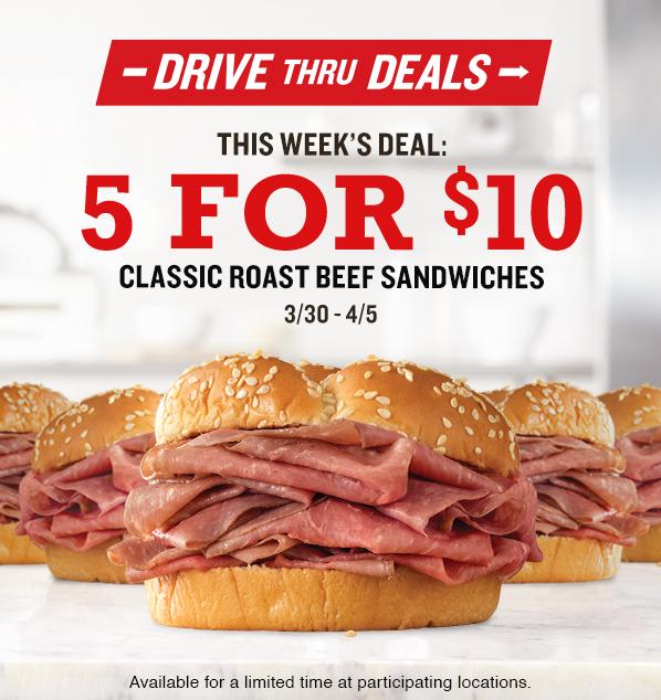 0330 Arbys Drive thru Deals