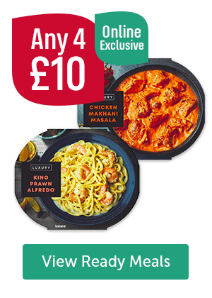 Any 4 � Online Exclusive View Ready Meals
