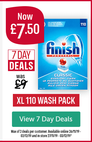 Now �50 Was �7 Day Deals Finish Powerball Classic XL 110 WASH PACK View 7 Day Deals Max of 2 deals per customer. Available online 26/11/19 - 02/12/19 and in store 27/11/19 - 03/12/19*