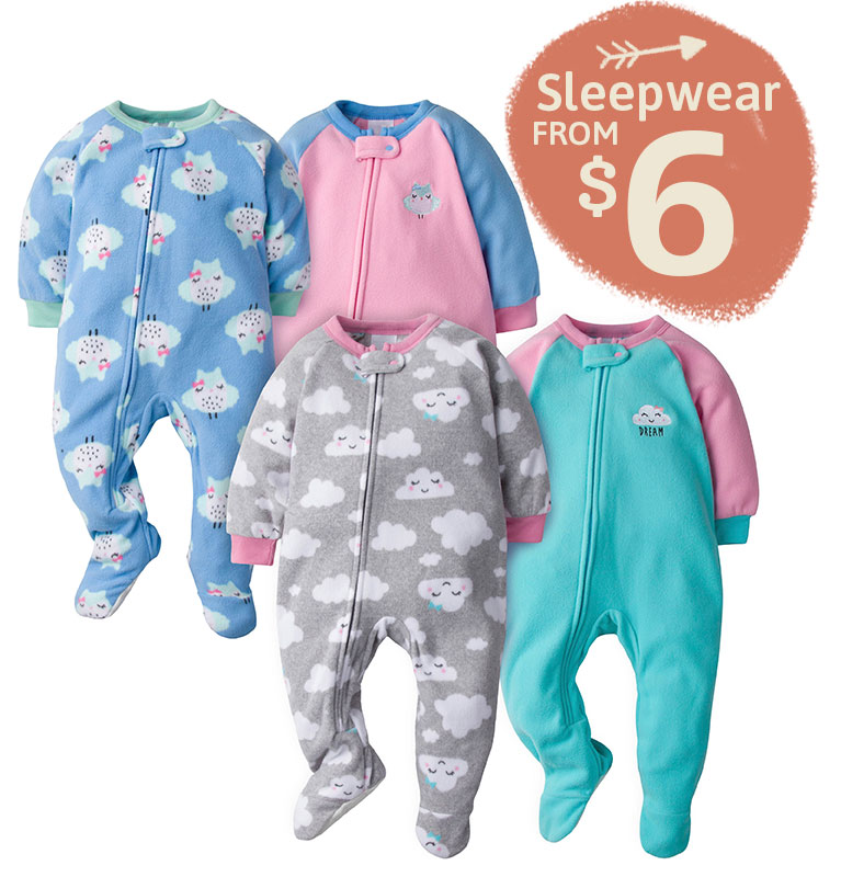 Gerber Sleepwear Starting at $6