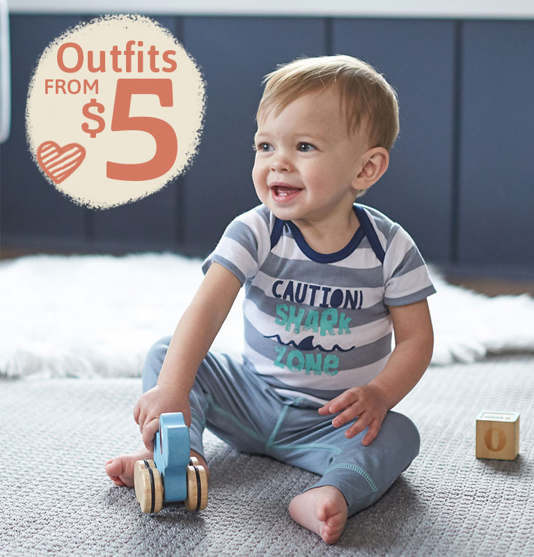 Gerber Outfits for Boys and Girls Starting at $5